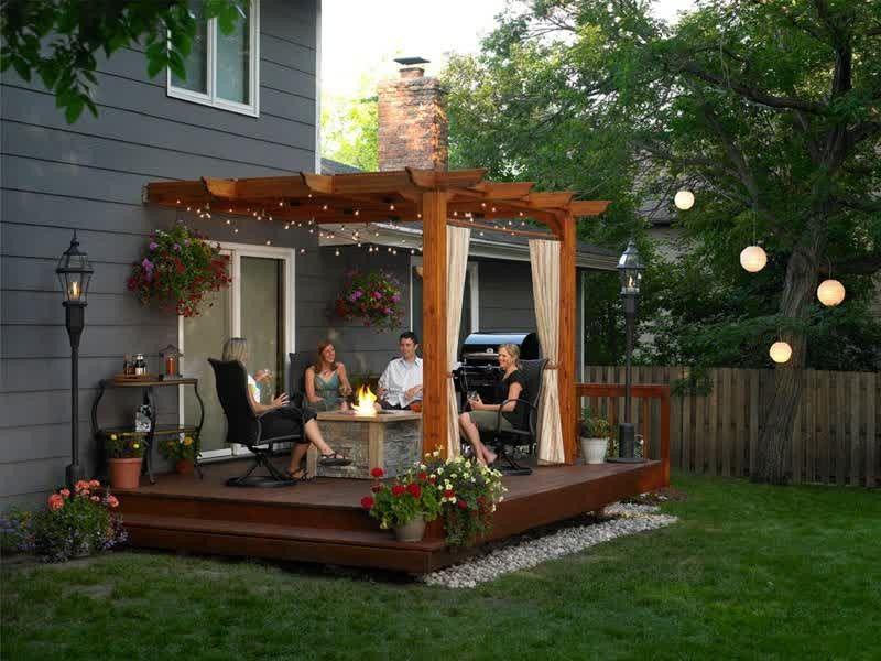 13 Outdoor Pergola Design Ideas In The Corner Decks And Outdoors