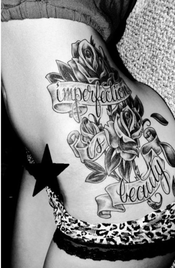 20 Single Rose Of Rose Tattoos On Side Body Ideas And Designs
