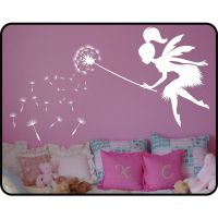 Fairy Dandelion Wall Decal With Wand Vinyl Wall Art Decal ...
