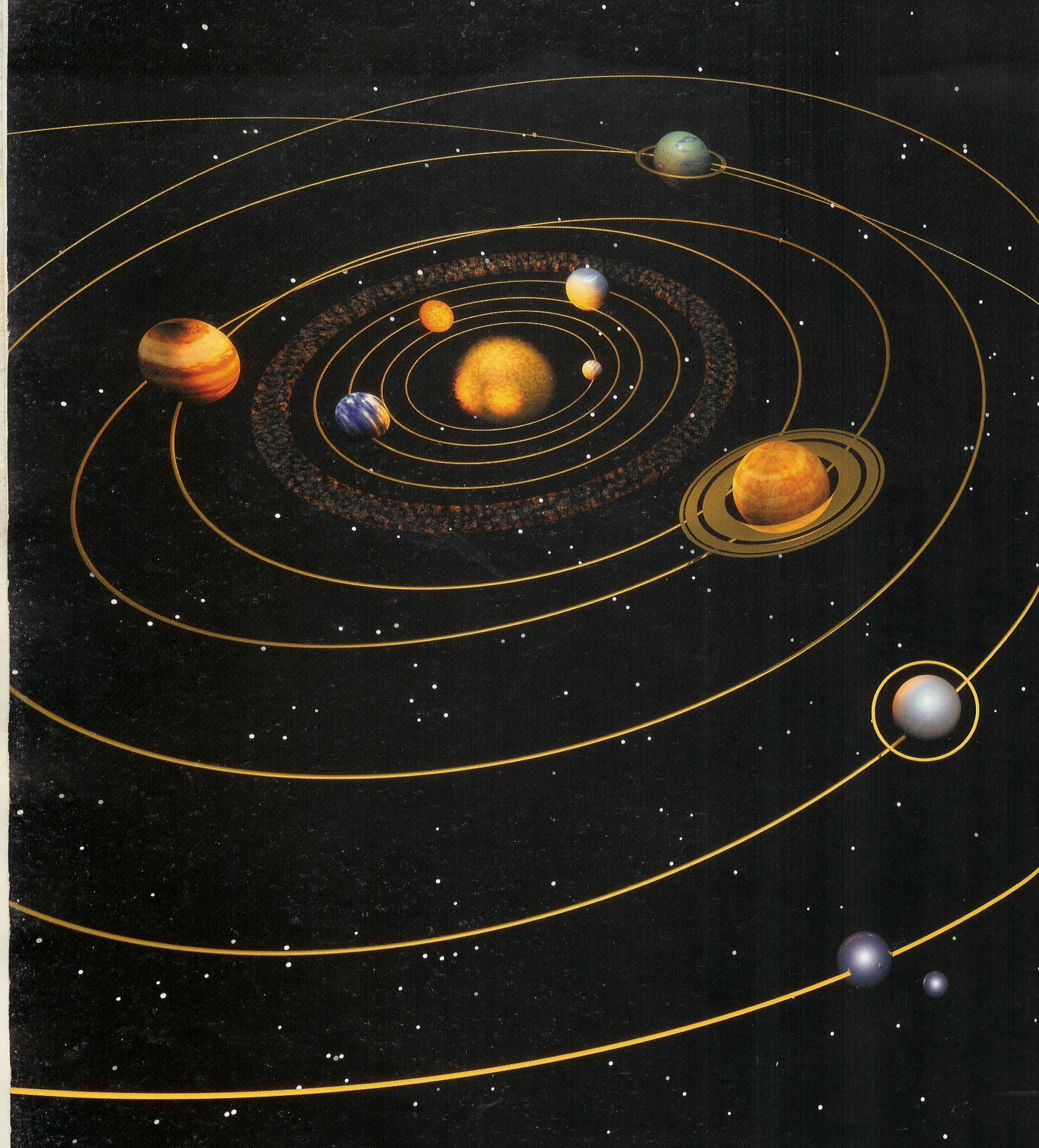 space diagram dividing network for speakers schematic deep planets orbits and asteroid belt