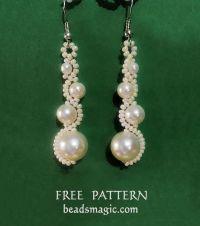Free pattern for earrings White Moon | Beads Magic | Bead ...