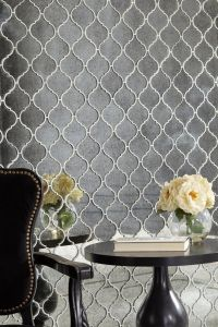 Antique Mirror Arabesque Glass Mosaic   Mosaic glass ...