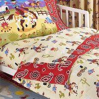 Ride Em Cowboy - 4pc Horses Bedding Set - Toddler Western ...
