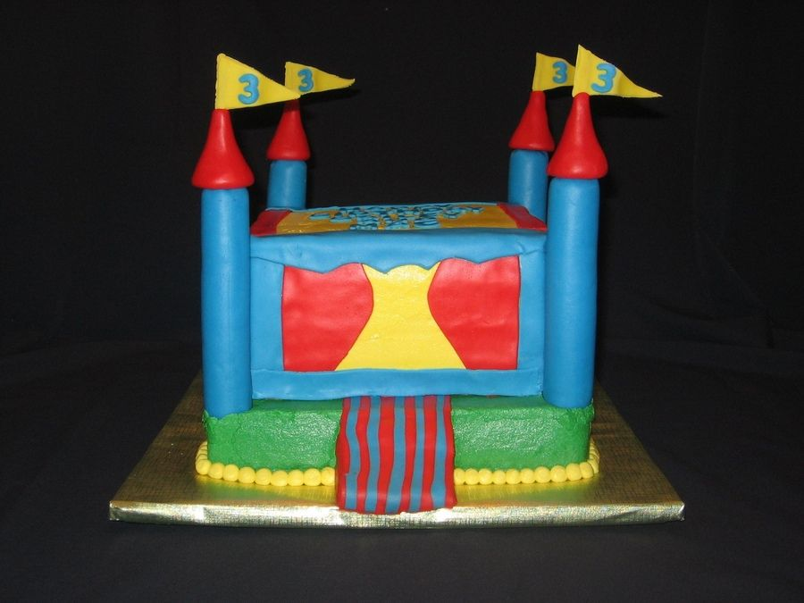 Bounce House Cake Ben S 5th Birthday Party Ideas