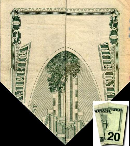 20 Dollar Bill Illuminati Fold