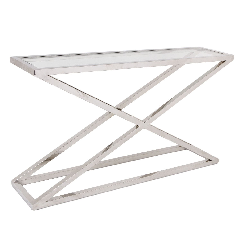 vogue chrome sofa table norwalk and chair company austin brooklyn chunky glass console  shropshire