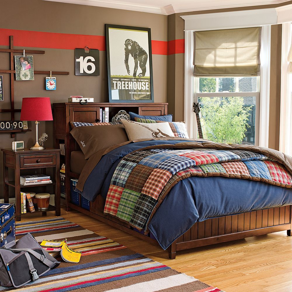 New Pottery Barn Teen Patch Plaid Quilt Home Sweet Home