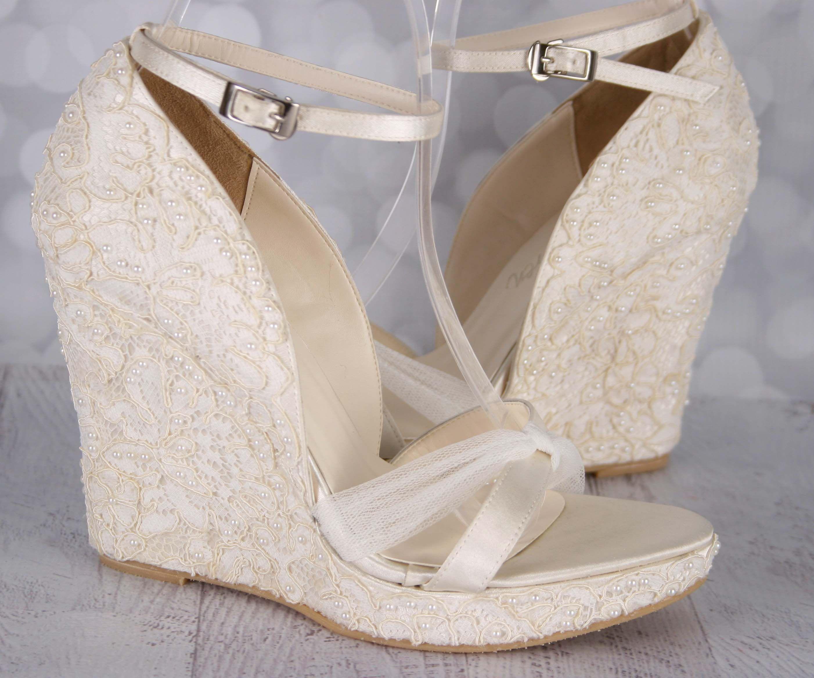 Ivory Wedding Wedges Bride
