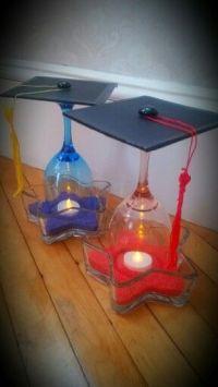 Wine Glass - Graduation Cap Centerpieces! | Grad Party ...