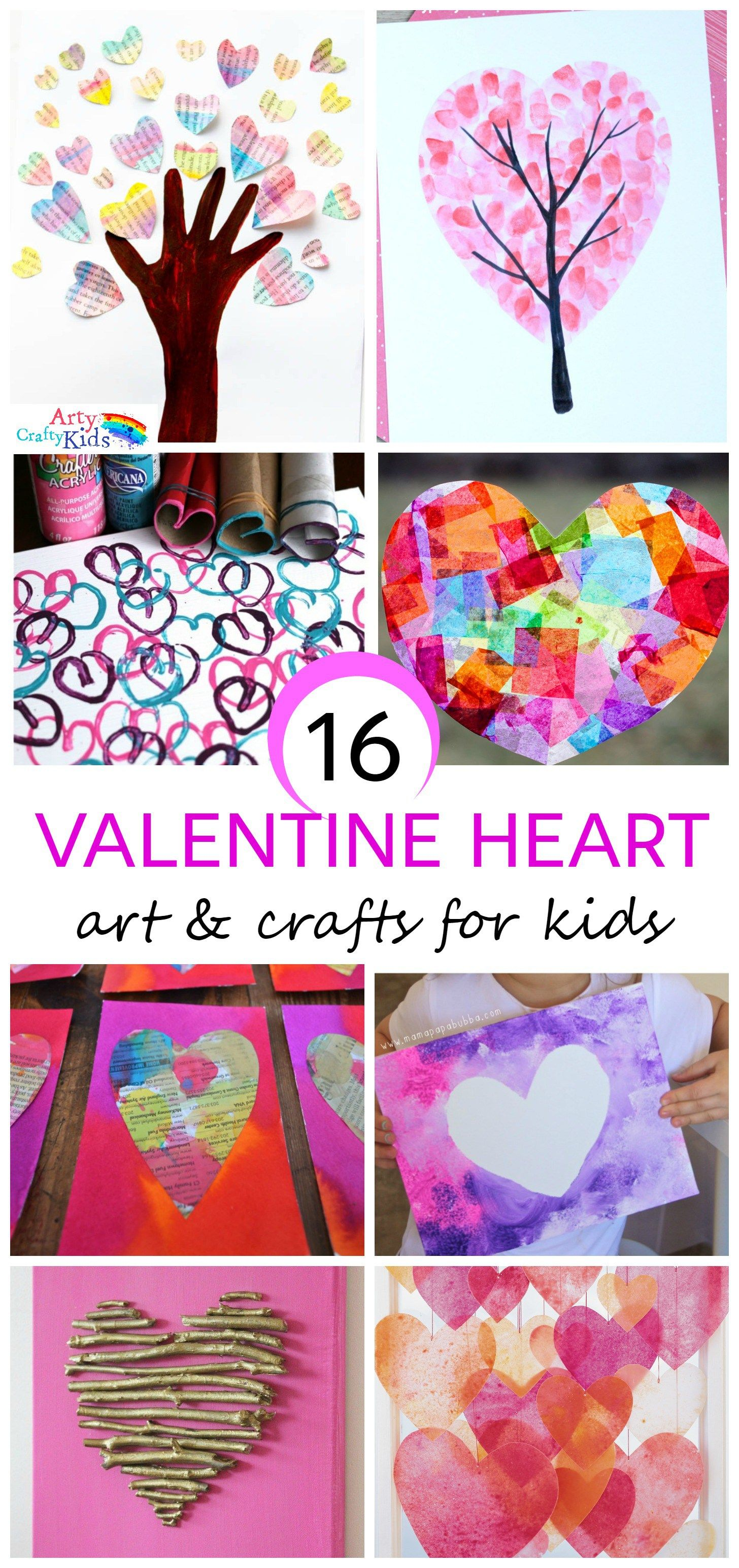 16 kids valentine heart craft ideas creative art and kid