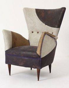 Serbian artist draga obradovic   one of  kind chairs at her studio in also coupe luxury italian upholstered occasional chair with belt rh pinterest
