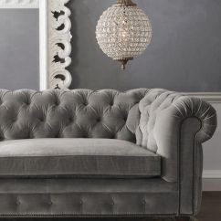 Silver Grey Sofa What Colour Walls Leather Sleeper Seattle Tufted G R E Y Pinterest