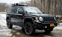 Lifted Jeep Patriot. 235/65r17 Cooper Discoverer AT3 tires ...