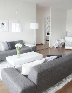 Living room white grey also olohuone pinterest modern rh