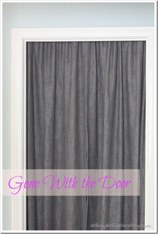 Closet Door Curtains on Pinterest  Closet Curtain Door