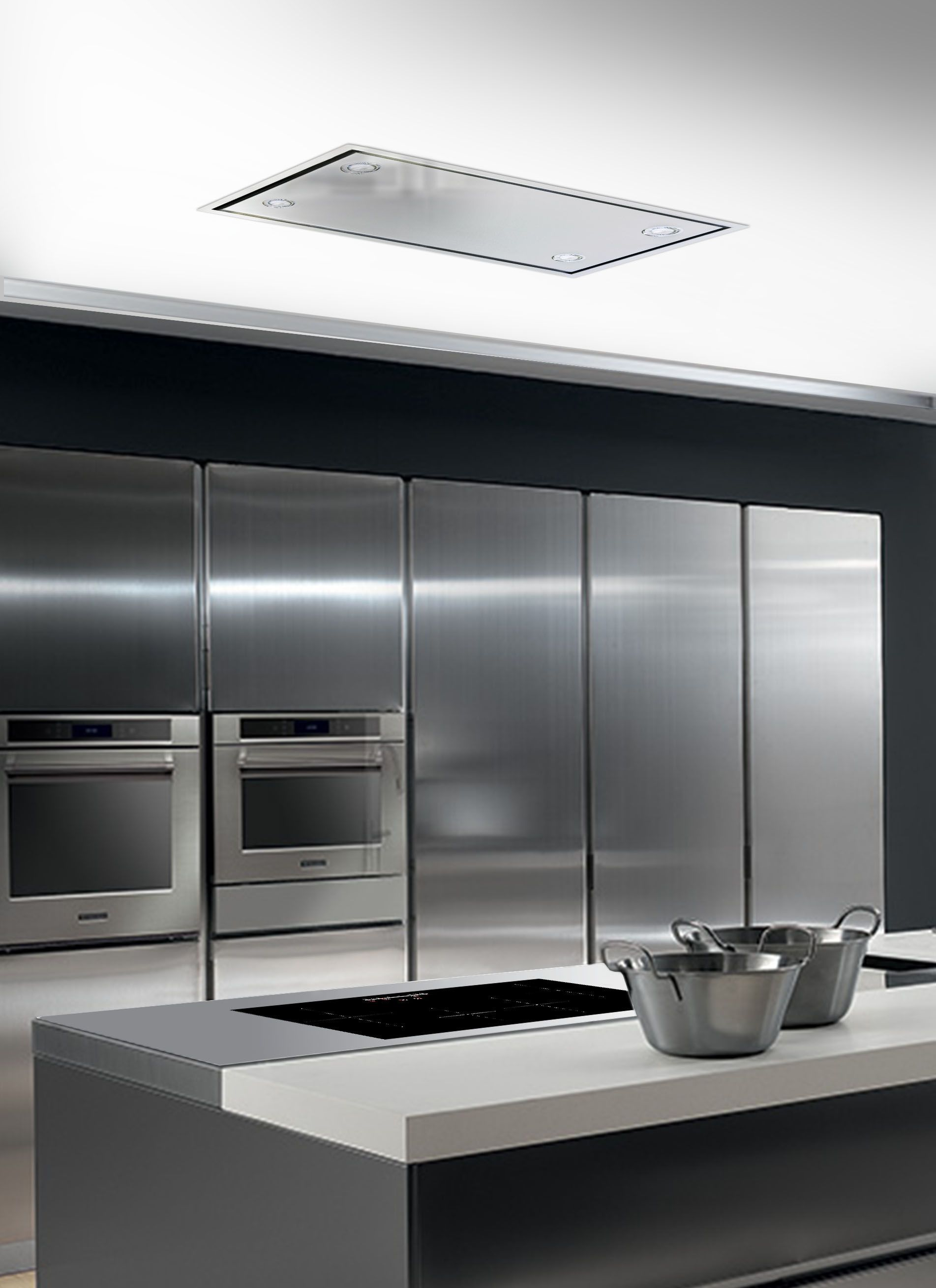 The Skyline flush mounted ceiling extractor fits