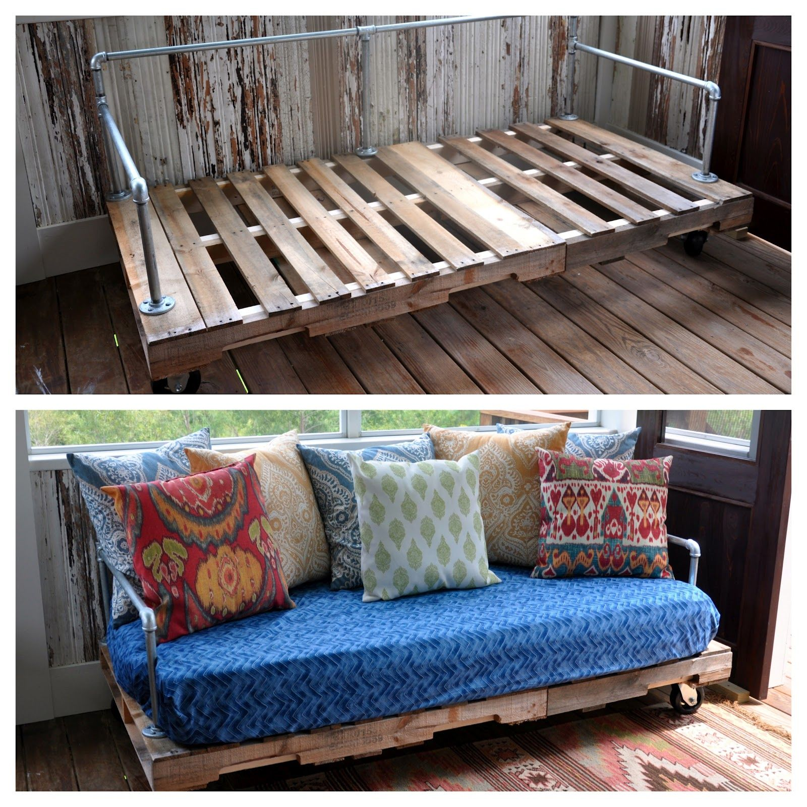 Pallet patio table diy - Pallet Couch Mi Proyecto De Cama Pinterest Pinterest Projects And Pallets