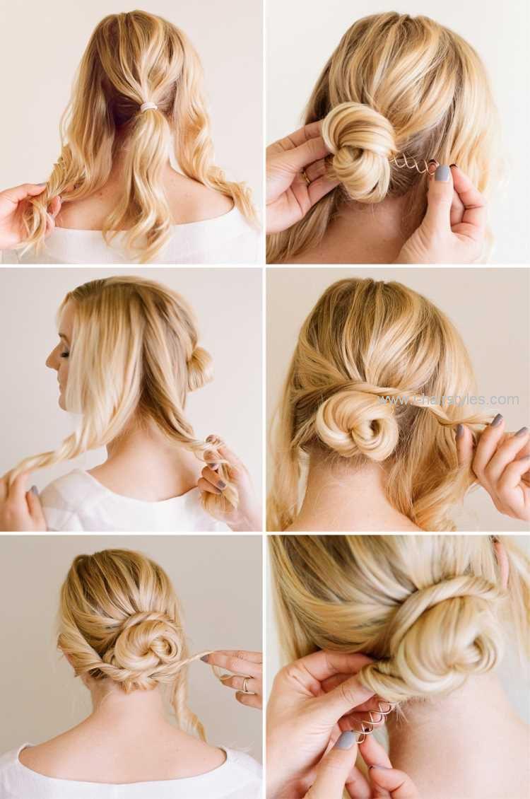 Einfache Hochsteckfrisuren Step By Step I Hairstyles Com