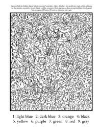 Coloring Pages: Printable Color By Number For Adults Free ...