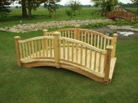 How to Build Wooden Bridge | Cedar Bridge Shop. com Garden ...