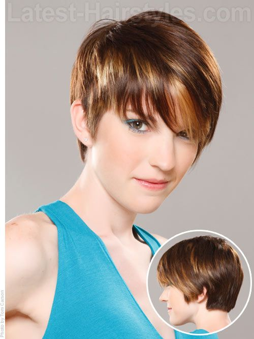 Cute Short Hairstyle School Haircut Pinterest Styles Courts