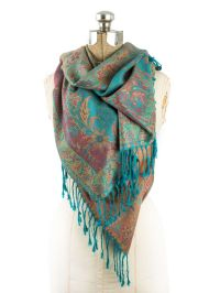 Amrita Scarf, Pashmina Indian Paisley Traditional Jacquard ...