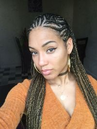 Alicia keys inspired look cornrows braids