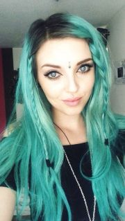 teal hair #hair #bright #dyed
