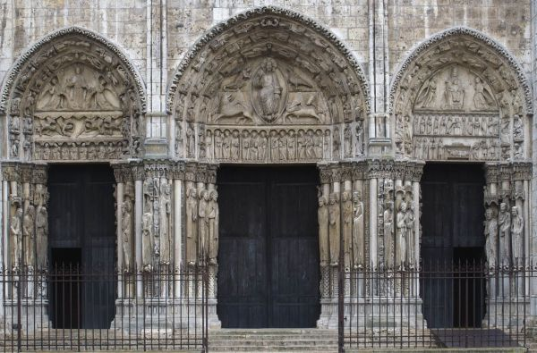 West Portal Chartres Cathedral. France. Gothic