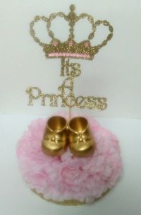 It's a princess centerpieces baby shower by