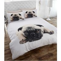 Pug Puppy Dog Full Size Duvet Cover Bed Sheets Animal