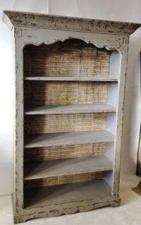 Furniture: Modern Backless Distressed Bookcase   Decor ...