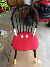 Mickey Mouse time out chair.
