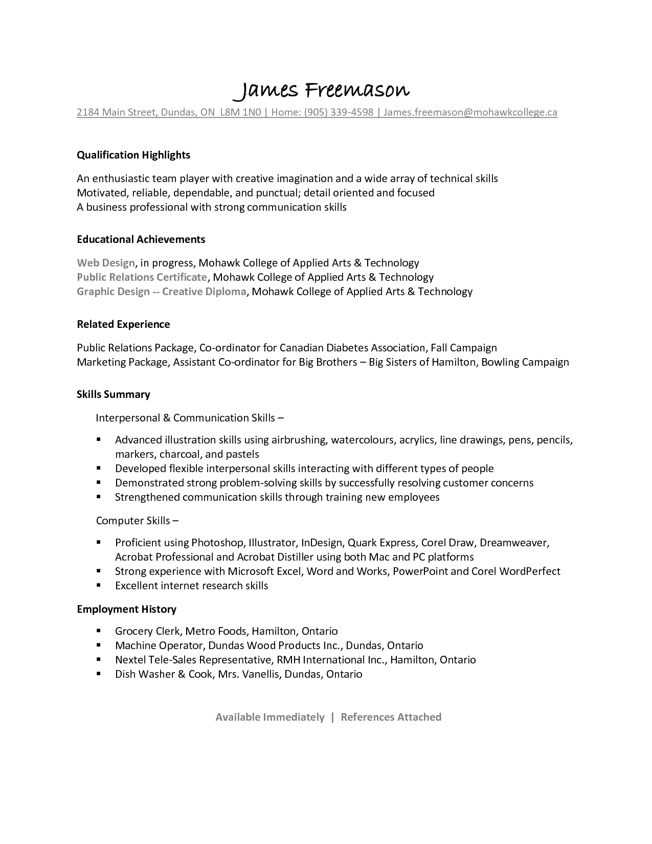 Cook Resume Skills Line Cook Resume Sample James Freemason Cover Latter