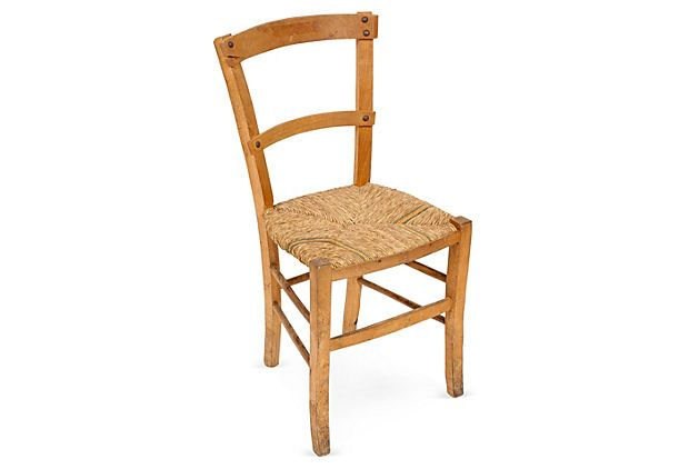 Wood  Straw Chair I  French Country_Rustic Farmhouse