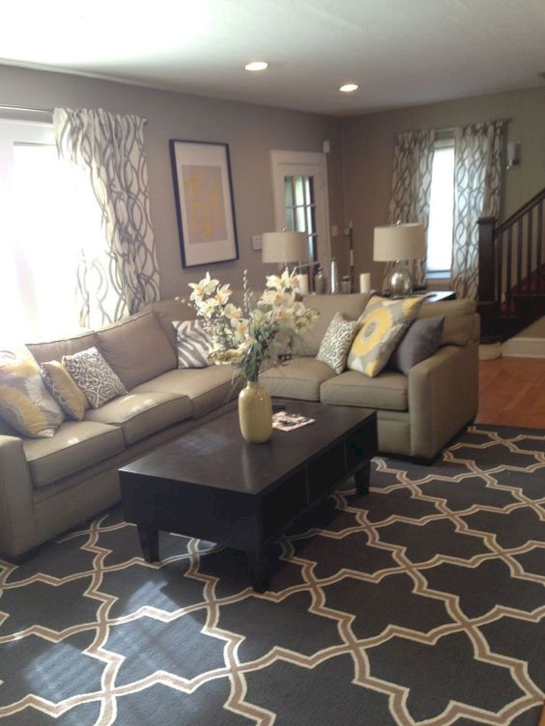 furniture ideas to warm up your family room yellow living also home rh pinterest