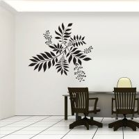 cool wall decals | Flower Feature Wall Art Decals # ...