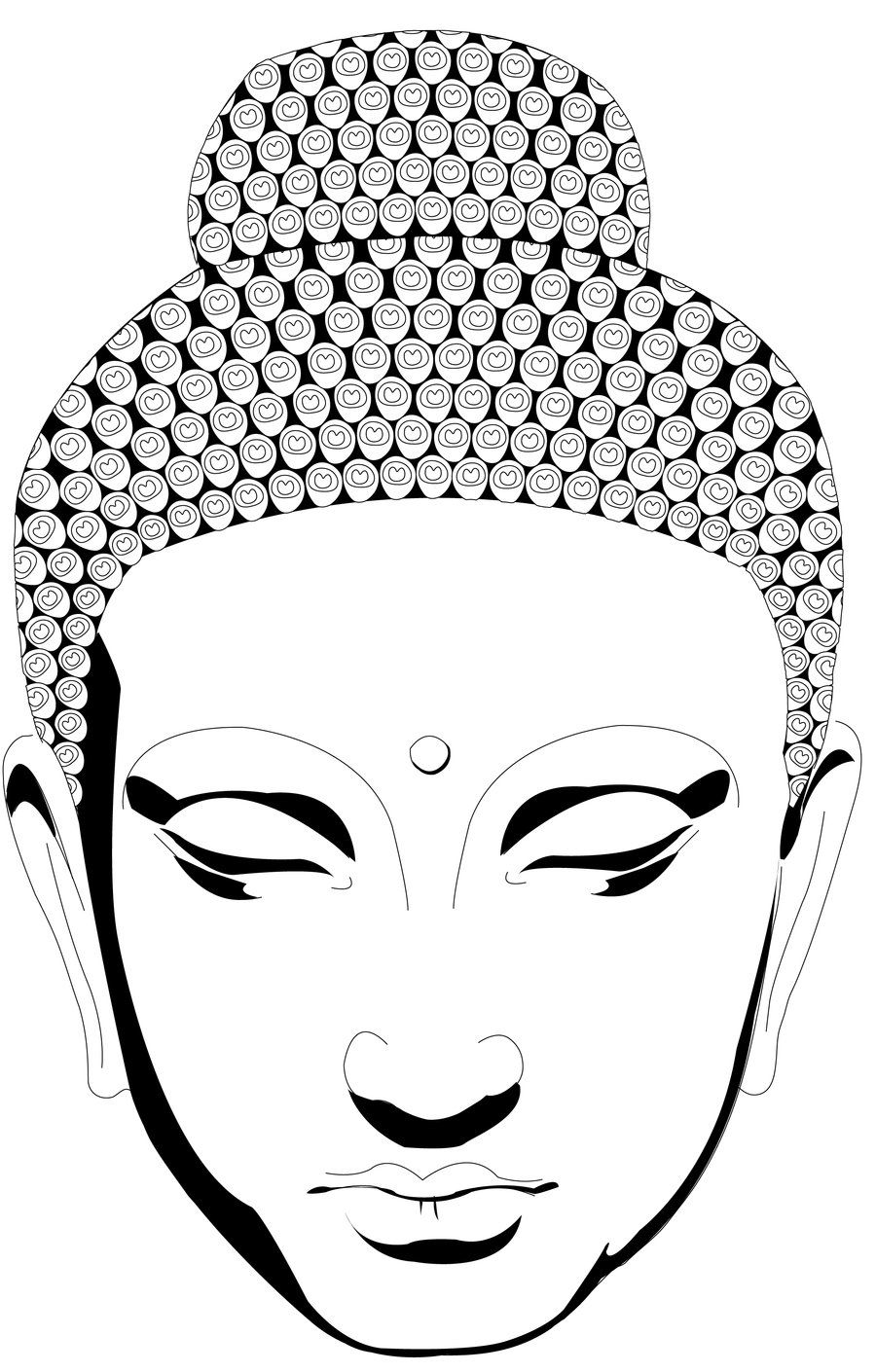 Buddha Face Coloring Pages Go Back > Images For > Simple