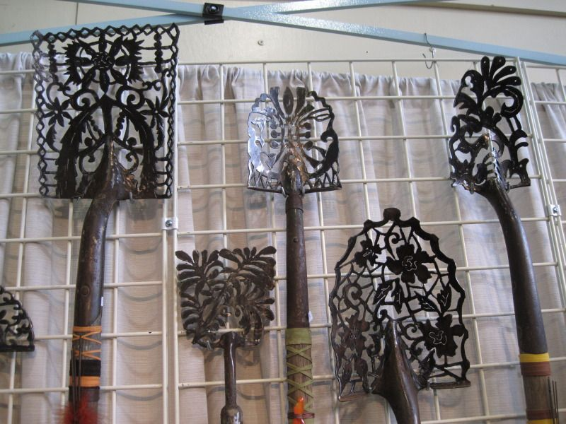 Yard Art Ideas Shovel Heads Turned Into Lace From Kelly Phipps