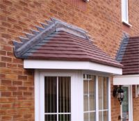 bay window tiled canopy