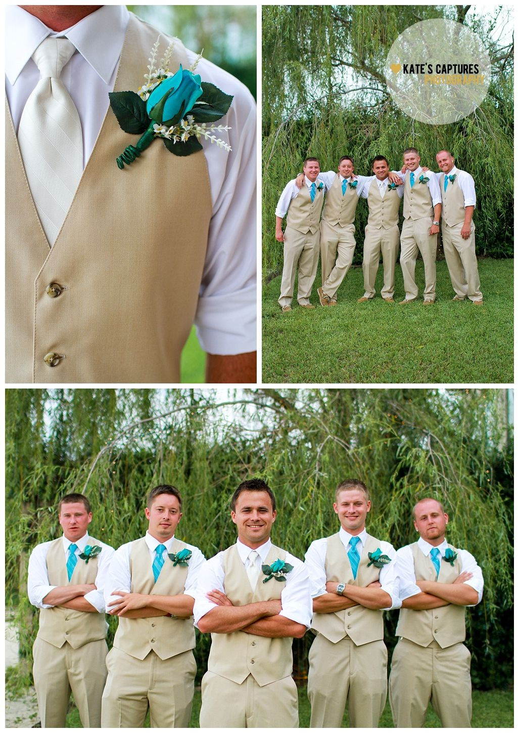 Groomsmen  Wedding Photos  Boutonniere  Santa Rosa