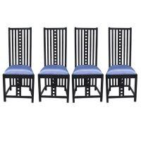 Four Charles Rennie Mackintosh Chairs | Charles rennie ...