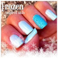 Frozen inspired nail colors | nail art | Pinterest