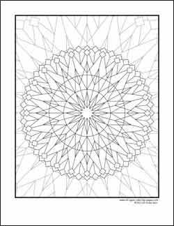 KALEIDOSCOPE COLORING PAGES « Free Coloring Pages Find