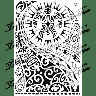 Marketplace Tattoo Polynesian half-sleeve 02 #8516