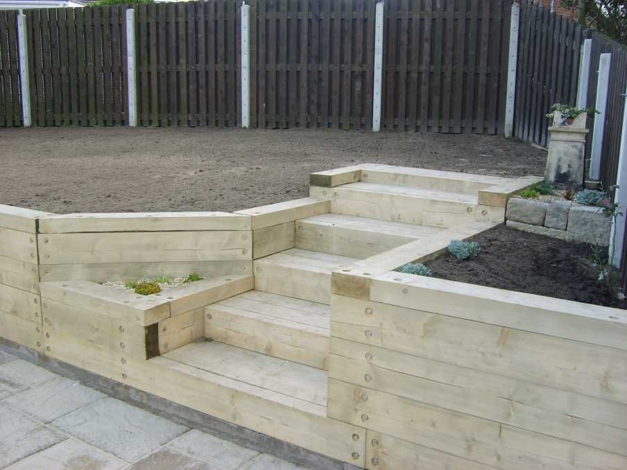 Magic Garden's Landscaping With Railway Sleepers Food Food
