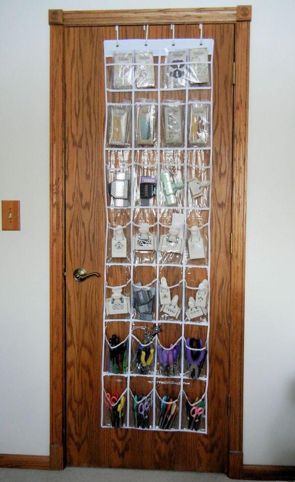 Plastic Over the Door Shoe Organizer