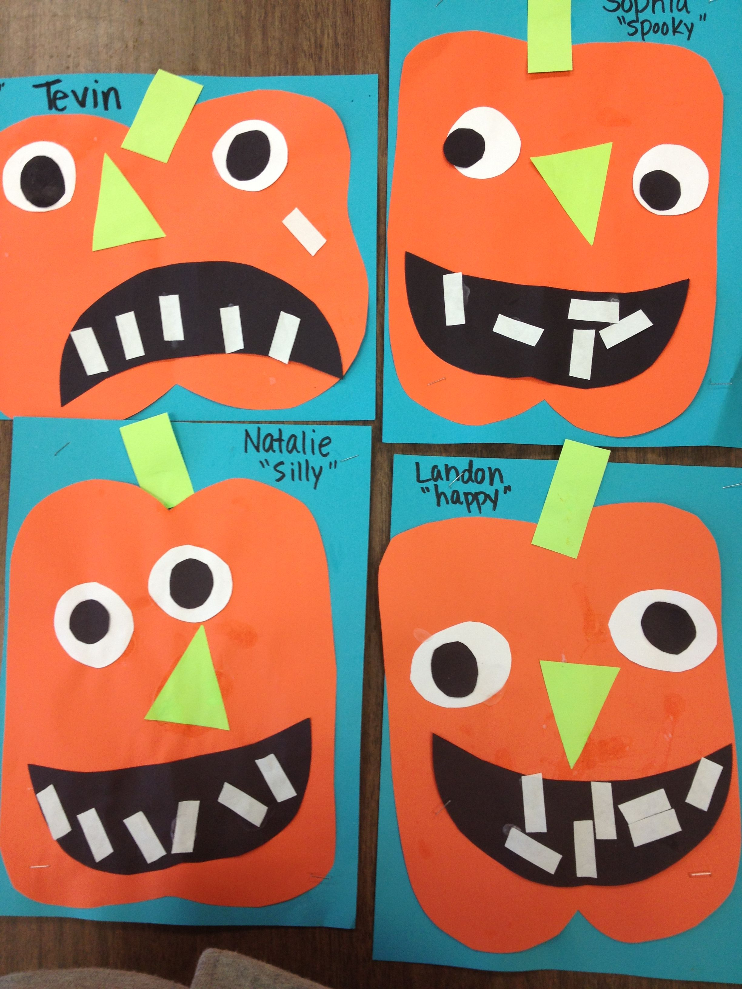 Preschool Pumpkins Can Talk About Shapes While Putting