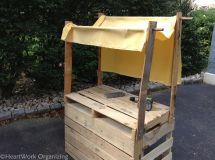 Fabric Awning Lemonade Stand Pallets
