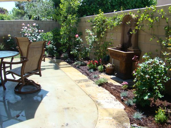 Tuscan Patio with Water Feature Ideas #CourtYard #